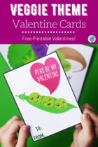 Veggie Theme Valentine Cards for Kids