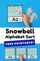 Snowball Alphabet Sort Free Printable