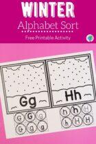Winter Alphabet Sort Activity