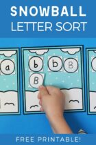 Snowball Letter Sort Free Printable