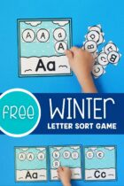 Free Winter Letter Sort Game