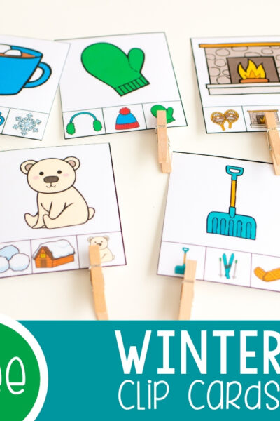 Winter Clip Cards square featured image.