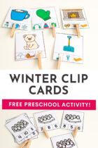 Winter Clip Cards Free Preschool Activity