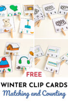 Free Matching and Counting Winter Clip Cards