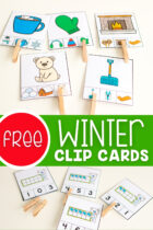 Free Winter Clip Cards for Preschoolers