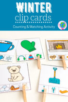 Winter Clip Cards Counting and Matching Activity