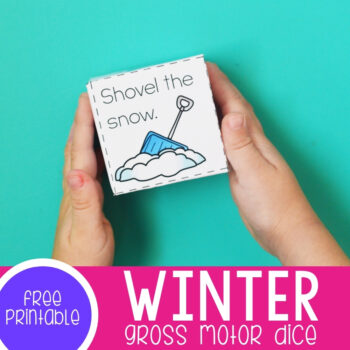 Winter Gross Motor Dice featured square image.