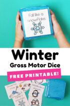 Winter Gross Motor Dice Free Printable