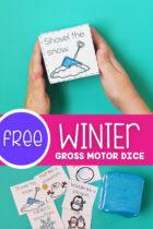 Free Winter Gross Motor Dice