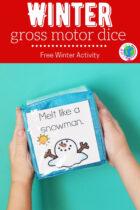 Free Winter Gross Motor Dice Activity