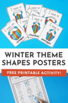 Winter Snowman Shapes Posters