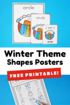 Winter Theme Shapes Posters For Preschoolers