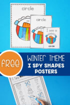 Free Winter Theme I Spy Shapes Posters