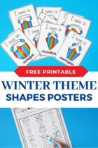 Free Printable Winter Theme Shapes Posters