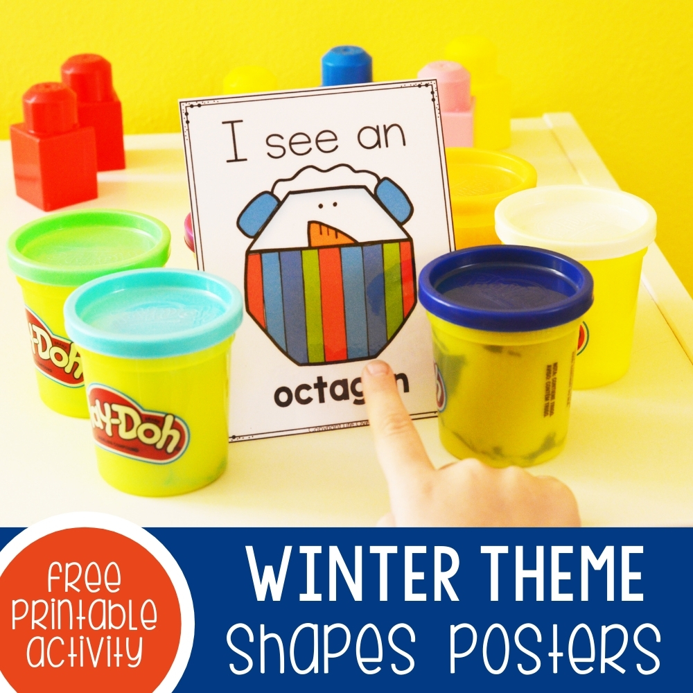 Winter Theme Shapes Posters Featured Square Image