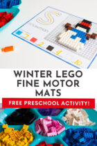 Winter Lego Fine Motor Mats