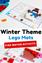 Winter Theme Lego Mats Fine Motor Activity