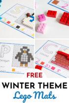 Free Winter Theme Lego Mats