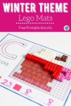 Winter Theme Lego Mats Free Printable Activity