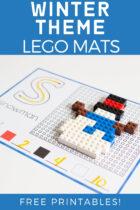 Winter Theme Lego Mats Free Printables