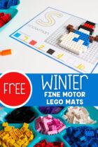 Free Winter Fine Motor Lego Mats