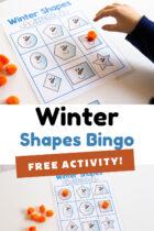 Winter Shapes Bingo Free Activity