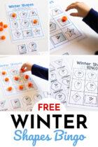 Free Winter Shapes Bingo