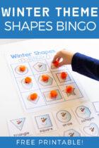 Winter Theme Shapes Bingo Free Printable