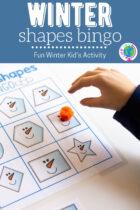 Winter Shapes Bingo Kid's Activity