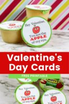 Applesauce Valentine's Day Cards Free Printable