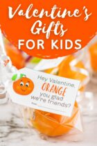 Cuties Valentine gift for kids with printable tag.