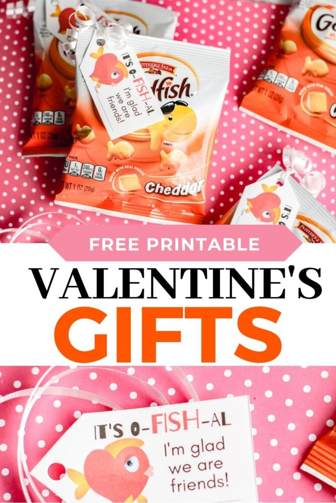 Free Printable Goldfish Valentine's Gifts
