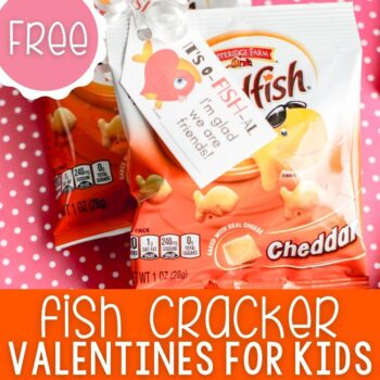 Printable Goldfish Valentine Cards for Kids square featured image.