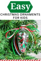 Easy Christmas Ornaments Craft For Kids