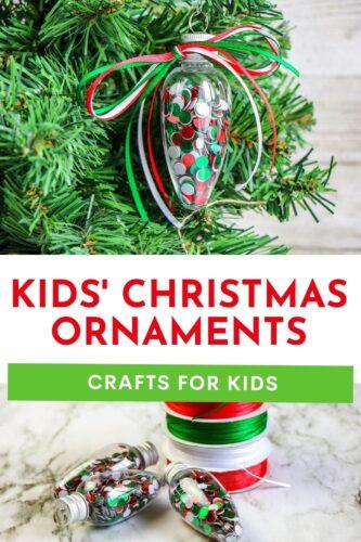 Kid's Christmas Ornaments Craft