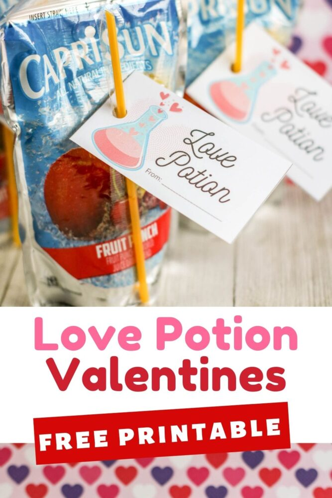 Free Printable Love Potion Valentines