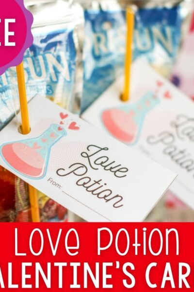 Love Potion Valentine's Day Card featured square image.