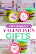 Free Printable Play Doh Valentine's Gifts