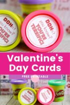 Free Printable Play Doh Valentine's Day Cards