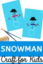 Easy DIY Snowman Craft For Kids