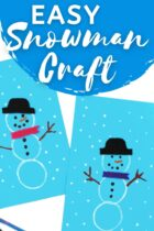 Easy Snowman Craft For Preschoolers and Kindergarteners