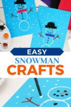 Easy Snowman Preschool Crafts