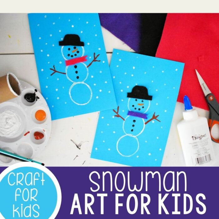 Easy DIY Snowman Crafts for Kindergarten and Preschool square featured image.