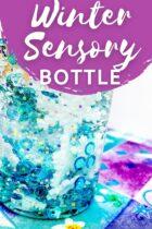 DIY Winter Sensory Bottle Sensory Activity