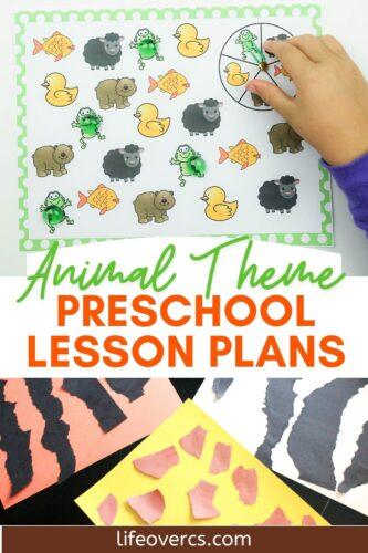 Easy Animal Theme Preschool Lesson Plans