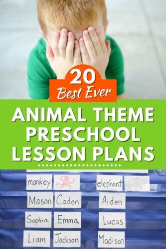20 Best Ever Animal Theme Preschool Lesson Plans
