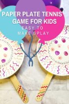 Paper Plate Tennis Game for Kids