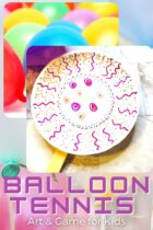 Balloon Tennis Art and Game for Kids