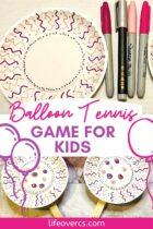 Easy Balloon Tennis Game for Kids