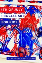 4th of July Process Art for Kids